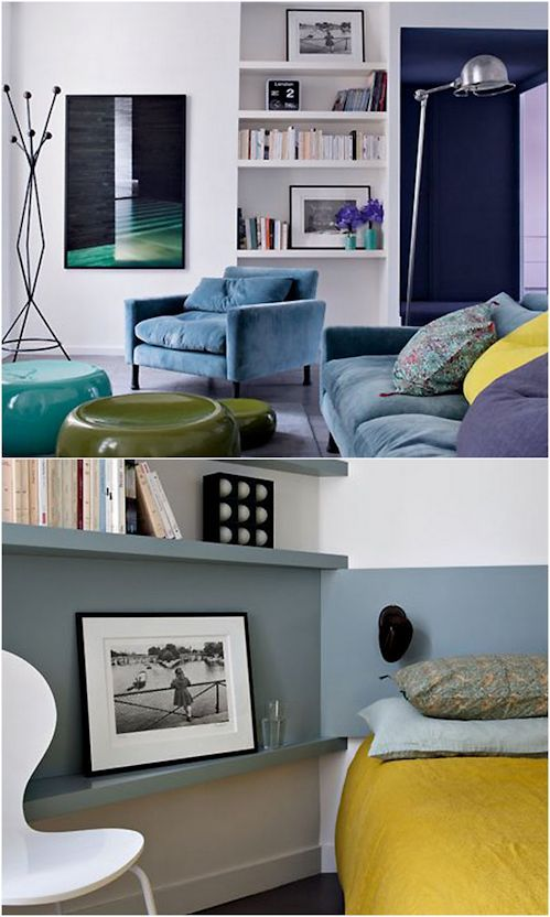 142 best ambientes peque os images on pinterest home for Decoracion departamentos pequenos