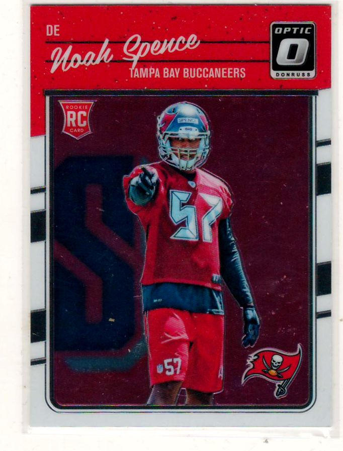 Sports Cards Football – 2016  Donruss Optic RC Noah Spence – Free Shipping