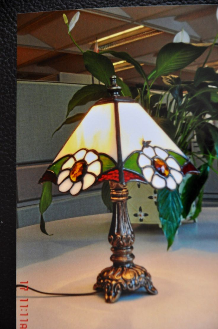 Stained Glass Marie-Odile Roy - Small lamp- special order.