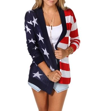 American Flag Cardigan - want this!