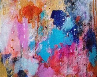 Pittura arte astratto inchiostro acrilico pittura decorazione