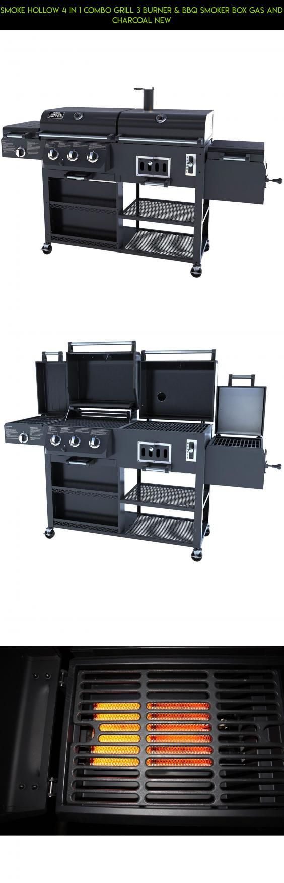 Smoke Hollow 4 in 1 Combo Grill 3 burner & BBQ Smoker Box Gas and Charcoal New #products #gas #technology #combo #tech #and #kit #camera #plans #drone #shopping #grills #racing #gadgets #fpv #charcoal #parts