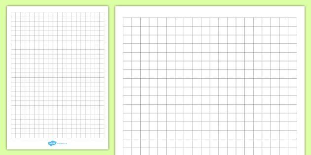 1cm squared editable paper