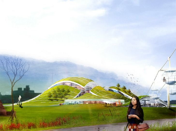HWKN's Artscape is a Green-Roofed Museum That Emerges From The Ground for Taipei Artscape-HWKN – Inhabitat - Green Design Will Save the World