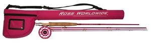 Ross Reel in a Cure Pink Fly Fishing Outfits...I want this!!