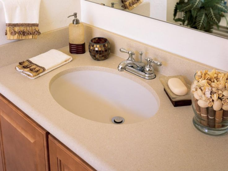 12 best images about whitespace on pinterest stains - Solid surface bathroom countertops ...