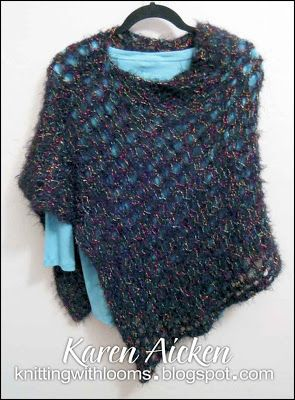 Knitting With Looms: Finished Poncho