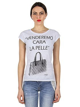 T-SHIRT IN COTONE STAMPATA