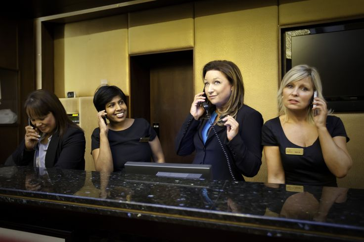 Presenter Norah Casey and the staff at the Hillgrove Hotel