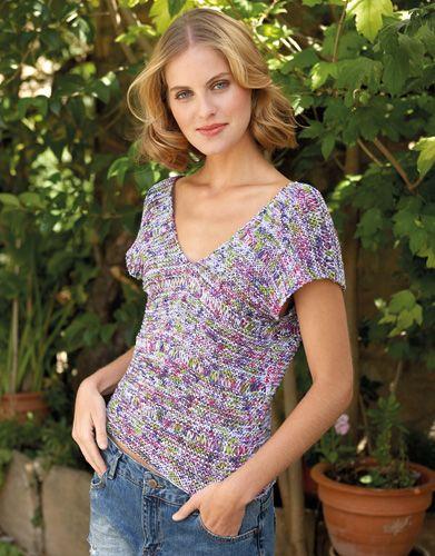 Revista mujer 81 Primavera / Verano   25: Mujer Jersey   Lila-Pistacho