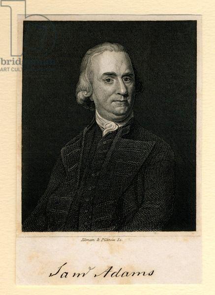 Samuel Adams, 1839 (engraving), American School, (19th century) (after) / © Boston Athenaeum, USA / Bridgeman Images
