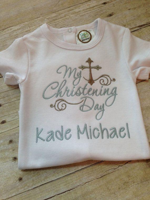 Christening Day bodysuit/shirt  My Christening by SweetTDesigns1