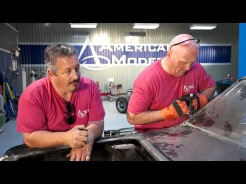 During this episode of American Modern's The Build, Rick Drewry and his team will remove the front and rear windshield from the '65 Chevelle Malibu SS.  They start the process by detaching the trim, clips and seal from the glass.  Chris Vogel , a member of American Modern's personal lines underwriting department, assists in the windshield removal process.  Make sure to Like us on Facebook to stay tuned for more: http://www.facebook.com/AmericanModernCollectorCar #TheBuild @American Modern…