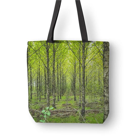 Tree Tote Bag Nature Bag Forest Tote Art Shoulder Bags
