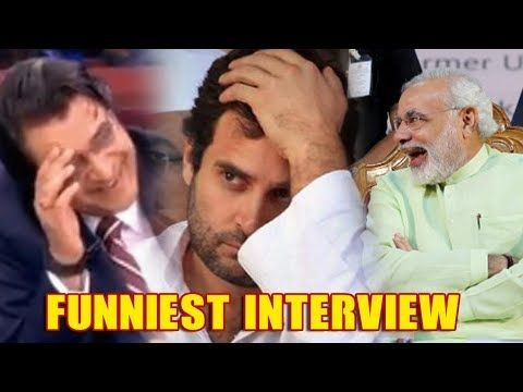 Rahul Gandhi's Most FUNNIEST Interview With Arnab Goswami - YouTube