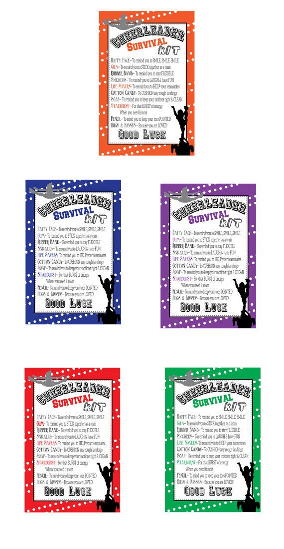 Cheerleading Survival Kits Cheer Gifts PDF file by EllaJaneCrafts