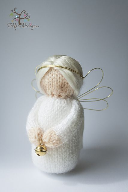 My little Angel knitting pattern is an ornament for the house or Christmas tree.