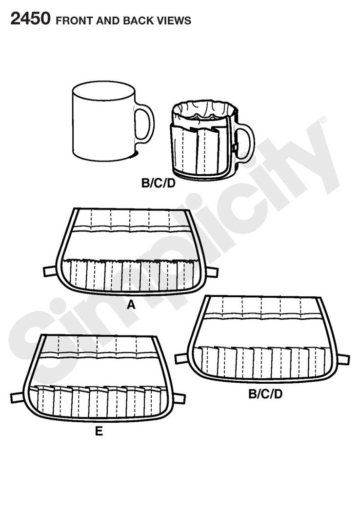 Buckets Gone Wild sewing pattern. Mug Bucket organizer fits over a regular size coffee mug and makes unique holder for small items. - Get it from jaycotts.co.uk
