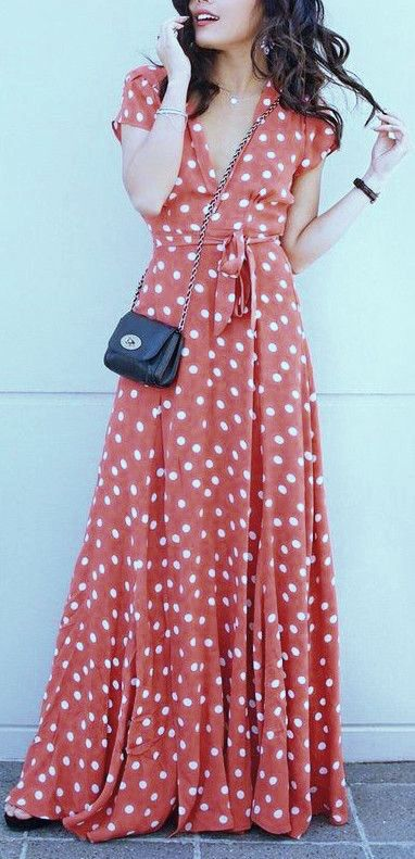 EOS MAXI WRAP DRESS IN POLKA DOT – KOOGAL