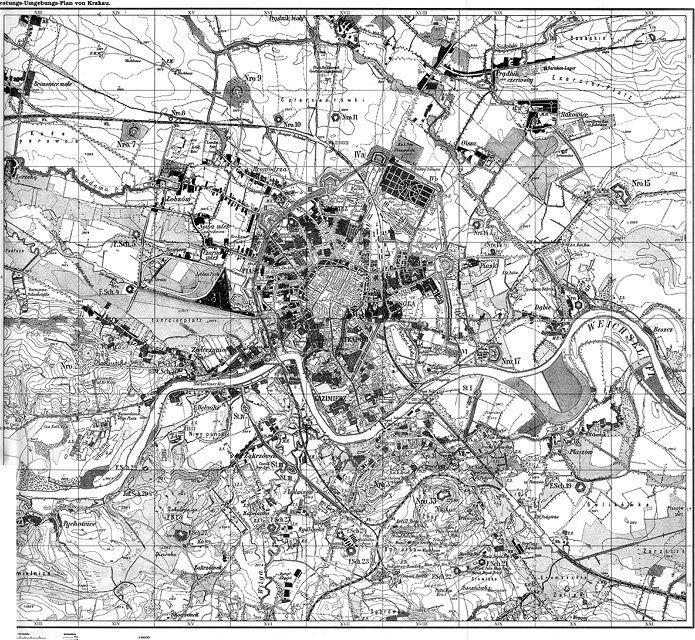 Przypadki Adama Ś. - Stare mapy Krakowa i okolic