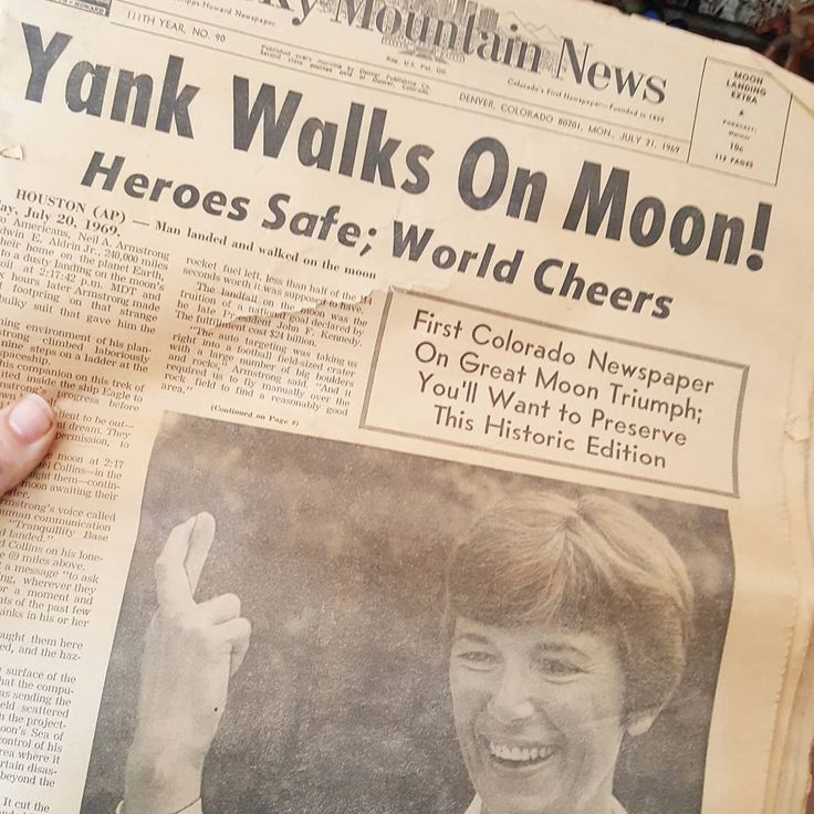 Not everything we have was once a living creature, we also love random and interesting find like this newspaper from just after the moon landing!