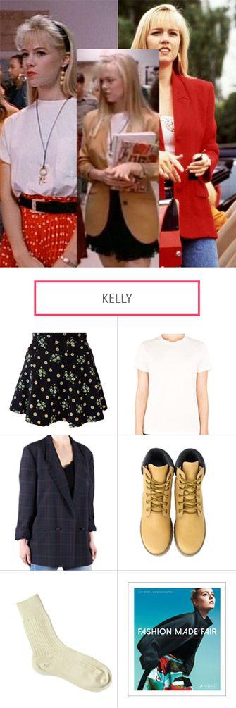 Die rich Kids Kelly, Brenda und Donna aus Beverly Hills 90210 bieten ziemlich coole Style-Vorlagen, die unbeding mal fair und nachhaltig kopiert werden mussten. Et voilà: Kelly Taylor.