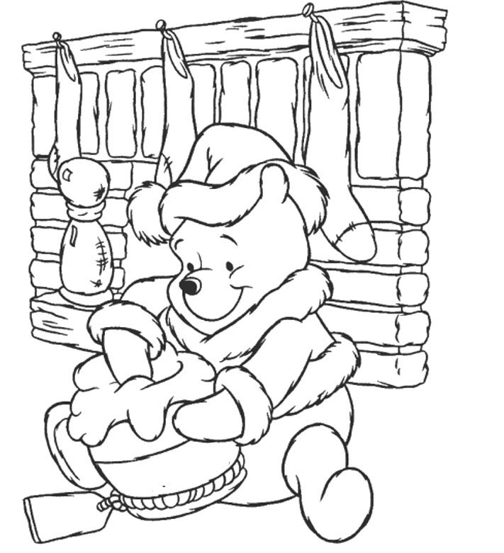 free winnie the pooh christmas coloring pages | 32 best Disney Christmas Coloring Page images on Pinterest ...
