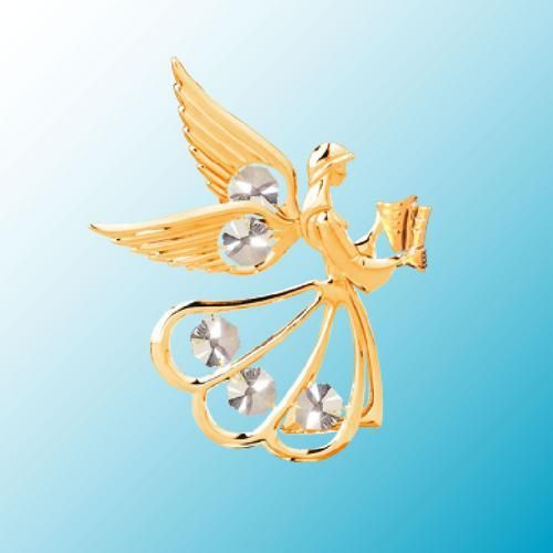 """Angel Suncatcher with Crystals 24K Gold Plate 4 3/4"""" tall $16.99"""