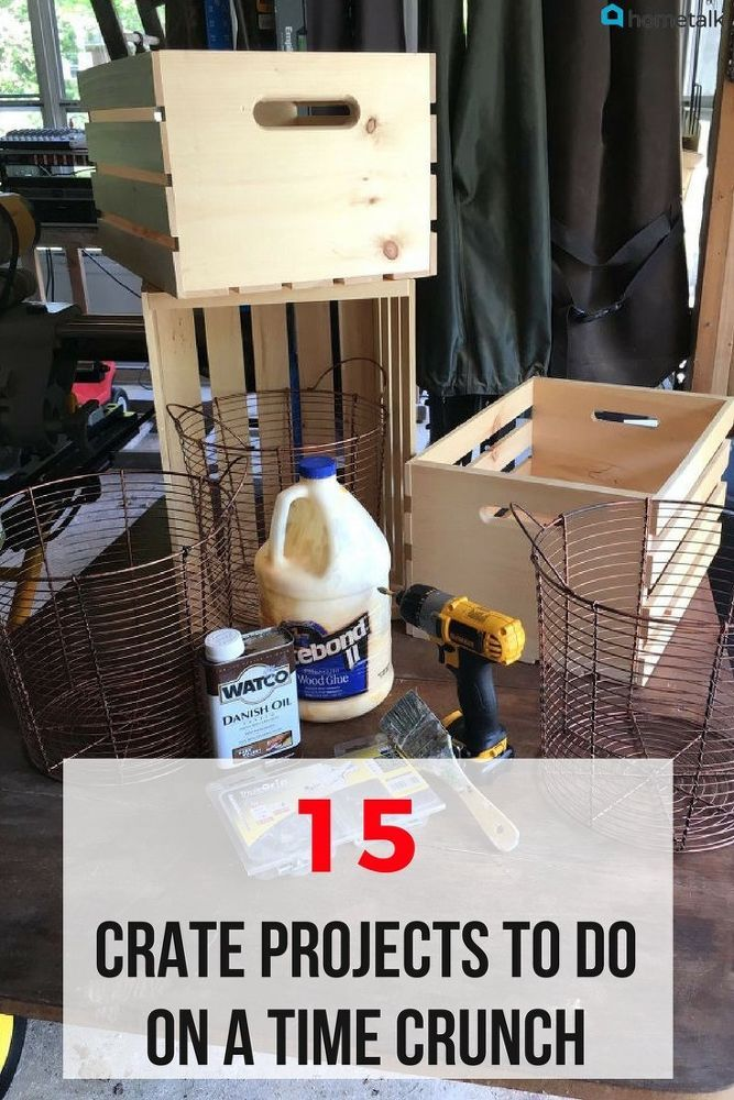 Don't got time to waste doing woodwork that can last days? Try out these easy crate projects instead!