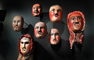 Archive of past Faschnachts Festival Masks.