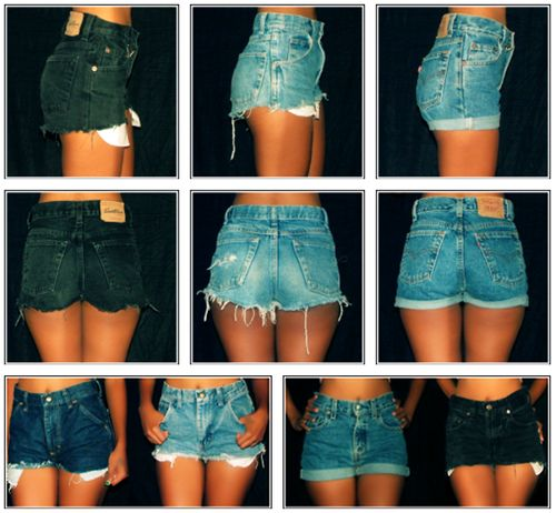 DIY high waisted jean shorts tutorial / visit my blog Ooh-la-la-laa.com