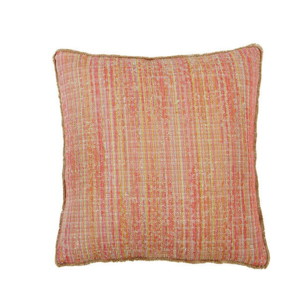 D1167 Seagrass Azalea with Gusset and Double Eyelash Fringe 22x22x1 throw pillow, decor pillow, accent pillow, Lacefield Designs pillow