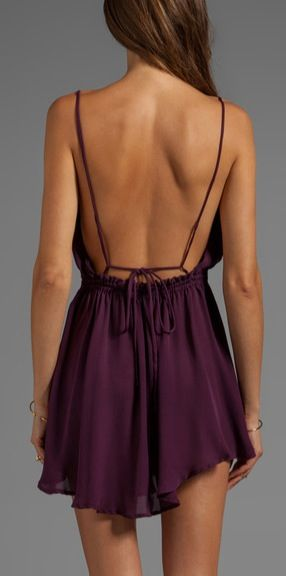 Haunting me. I need this. #Revolve #backless #dress #CharismaWants