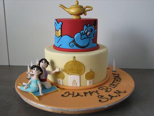 Disney Aladdin & Jasmine Cake