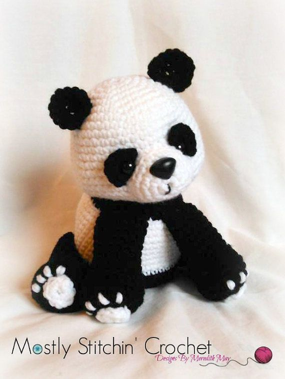 PLEASE NOTE YOU ARE NOT PURCHASING A FINISHED ITEM!!!!!!!!!!  NO REFUNDS WILL BE ISSUED ONCE THE PATTERN IS SENT  Cuddly and sweet this Panda Bear Pattern is just waiting to cuddle! Fun to make, perfect as a gift to yourself or anyone who loves Pandas! This pattern is one of my favorites and I think it will become one of yours too!  The pattern is written in English, using US crochet terminology. I included detailed instructions, many step-by-step photos and useful tips and notes.  Includes…