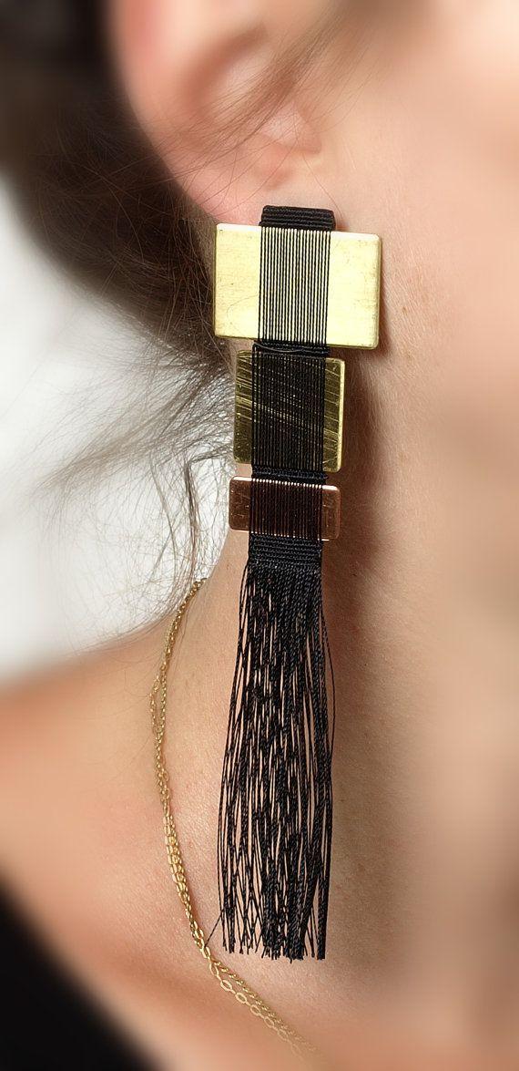 Hand woven Earrings by MichalTaharlev on Etsy @MichalTaharlev Hand Woven Jewelry