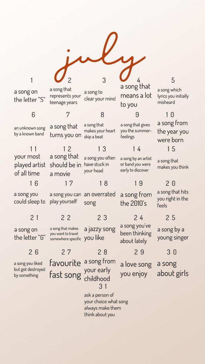 Pin By Julia Forsberg On 2021 Year Of Music Song Challenge Music Challenge Months Song
