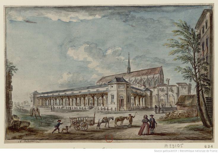 Paris 5e - Rue de Poissy - [Halle aux veaux et église des Bernardins] : [dessin] / j b Lallemand f.