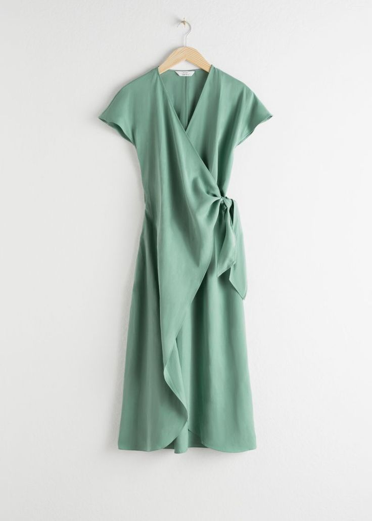 Lyocell Blend Wrap Midi Dress | & Other Stories #andotherstories #fashion #dress…