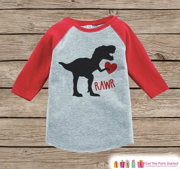 Elegant Kids Valentines Outfit   Dinosaur Valentineu0027s Day Shirt Or Onepiece   Boys  Valentine Shirt   Baby