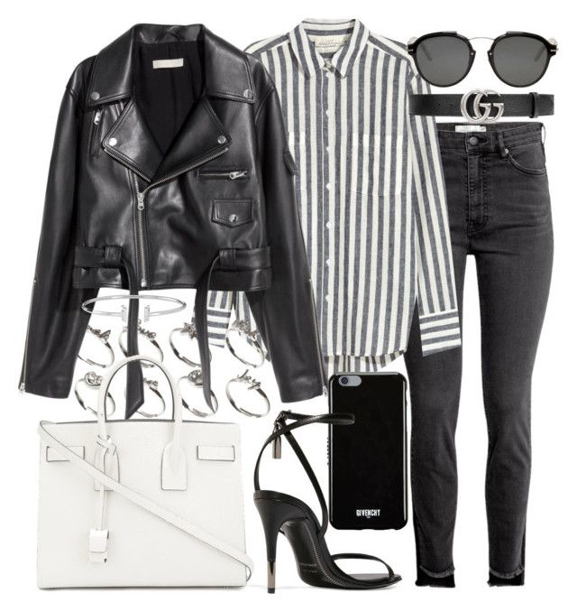 """""""Untitled #21206"""" by florencia95 ❤ liked on Polyvore featuring ASOS, SKINN, Givenchy, Christian Dior, Tom Ford, Gucci and Yves Saint Laurent"""