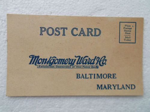 1926 Postcard Montgomery Ward Co Free Wallpaper Sample Book Order Form Unused | eBay