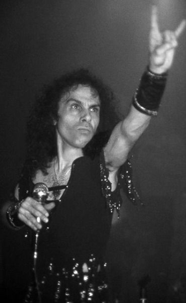 His Holiness, Ronnie James Dio. I just want him to come back to life and sing me songs about wizards...