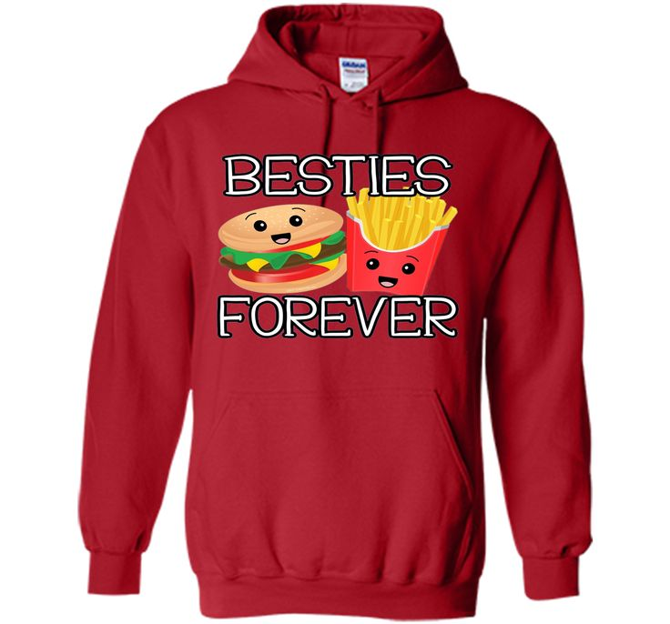 Besties Forever Hamburger French Fries Best Friends T-Shirt