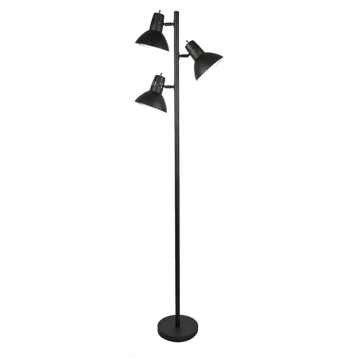 allen + roth Embleton 68-in Bronze Multi-Head Indoor Floor Lamp with Metal Shade