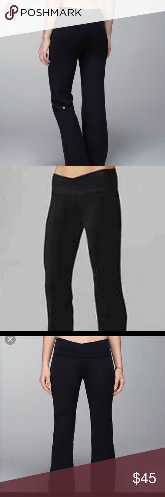 Lululemon size 2 Black Astro pant spandex They still have inside tag & it looks brand new!  luon, four-way stretch and moisture wicking help keep you comfortable on the mat gusset designed for greater range of movement and comfort back waistband pocket for cards and keys wear the waistband as-is for a higher rise or roll down for a lower rise just say no to chafing with flat seams  properties: four-way stretch, moisture wicking, preshrunk, breathable rise: low or high - you decide leg fit…