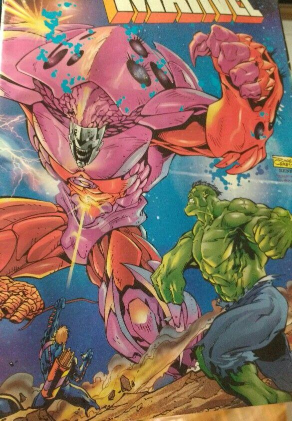 """Edição especial """"Massacre Marvel"""". História de Scott Lobdell e Mark Waid, arte de Adam Kubert e Joe Bennett (capa de Roger Cruz). Editora Abril, 1998 - 48 páginas. #comics"""