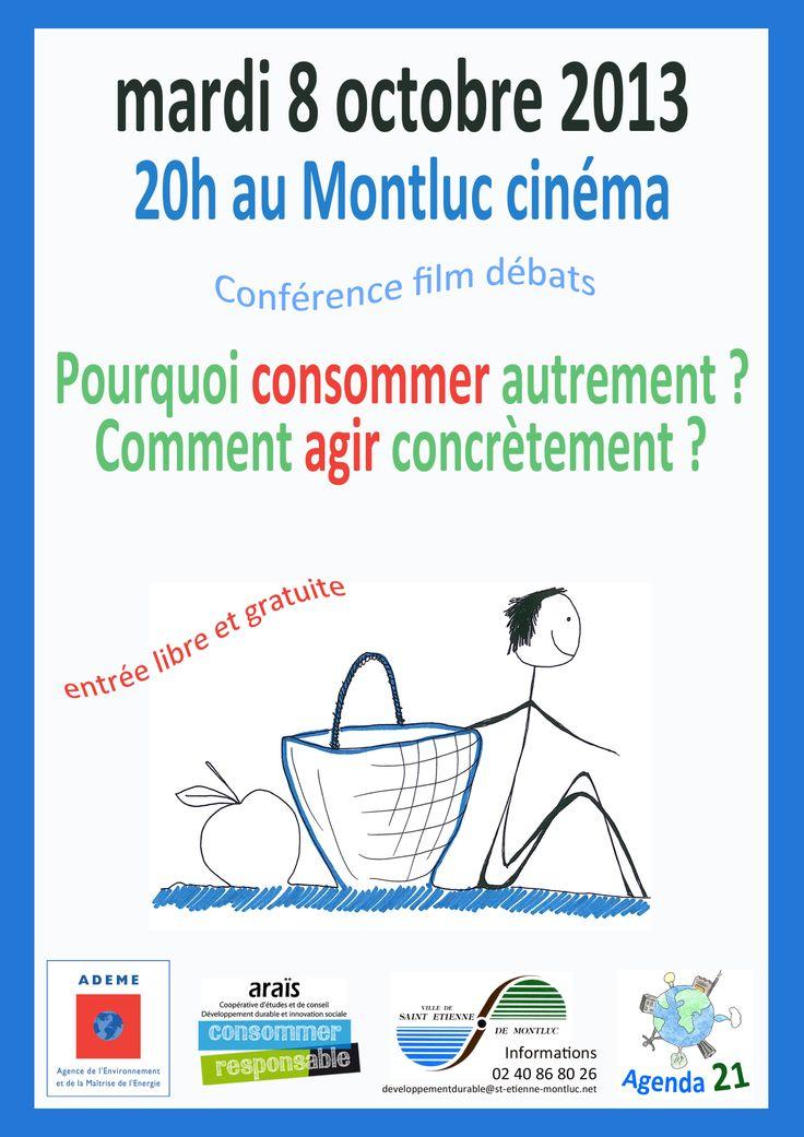 Araïs est intervenu dans une séance de ciné-débat organisée par la mairie de St Etienne de Montluc : Pourquoi consommer autrement ? Comment agir concrètement ?