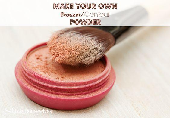 homemade bronzer contour powder @SlickHousewives