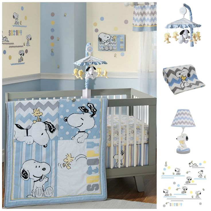 Have a little one on the way? Decorate the new baby's room with Snoopy and Woodstock. The lamp, blanket and wall decals would be perfect in any Peanuts themed room, not just for kids. Start shopping at our site and help support CollectPeanuts.com.